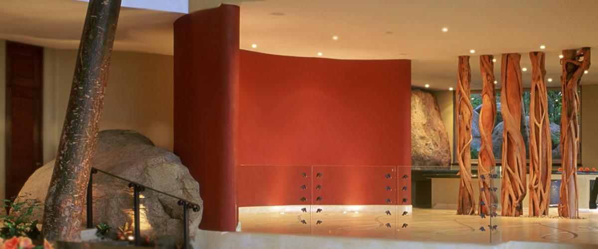 Elegant house designed and built under the living architrecture concept.